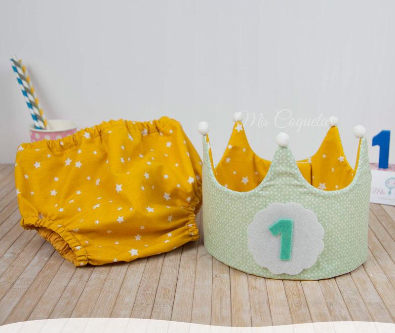 Conjunto de Corona de cumpleaños y Culotte