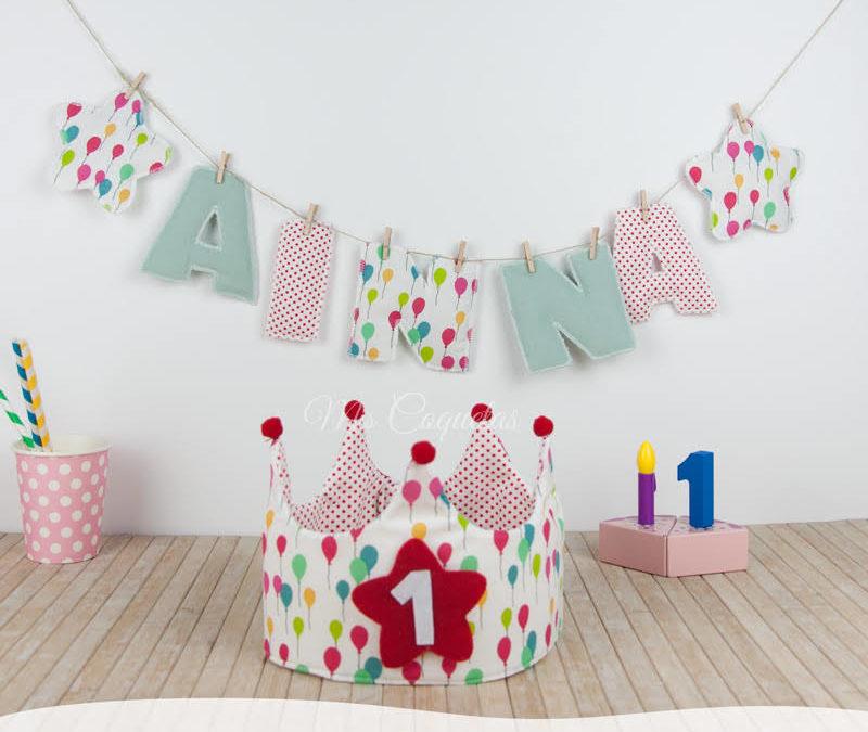 Corona de cumpleaños para Annia con letras decorativas