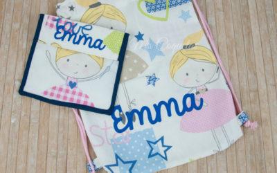 Mochila y portasnacks de Emma para la vuelta