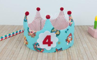 Corona de cumpleaños de la Patrulla Canina y camiseta
