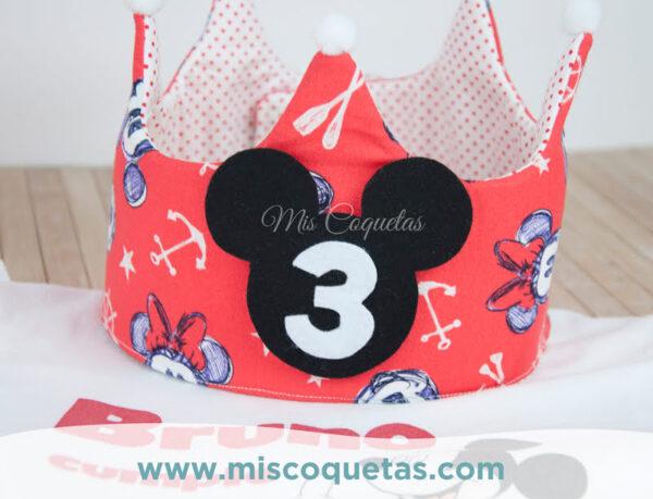 Corona de cumpleaños de Mickey Mis Coquetas