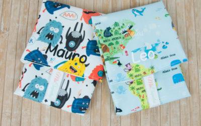 Portabocadillos personalizados para Mauro y Leo