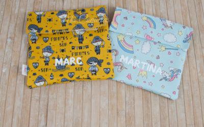 Dos portasandwich personalizados para Marc y Martina