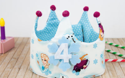 Corona de cumpleaños de Frozen