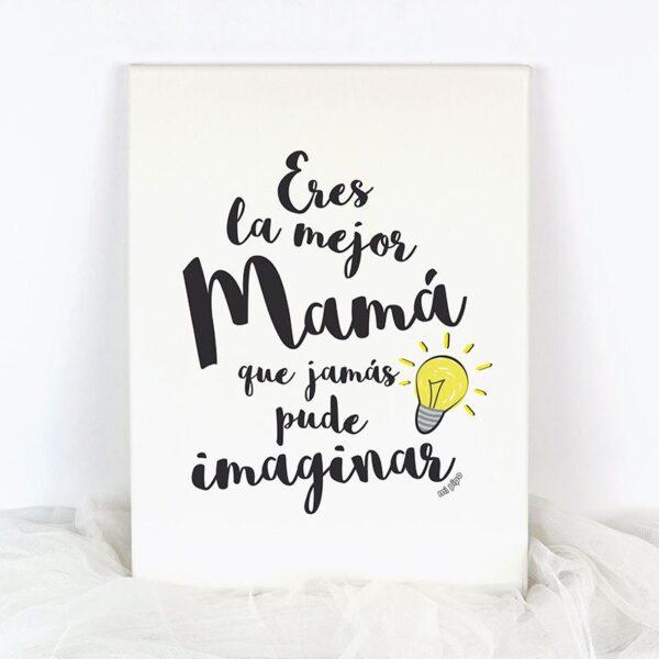cuadro decorativo eres la mejor mamá