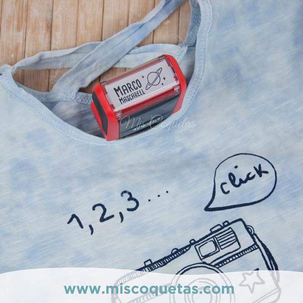 Sello para ropa personalizado Cuño para ropa Sello textil Mis Coquetas