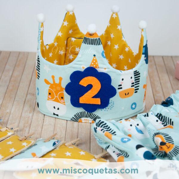 Coronas de cumpleaños Coronas de Cumpleaños con números intercambiables Mis Coquetas