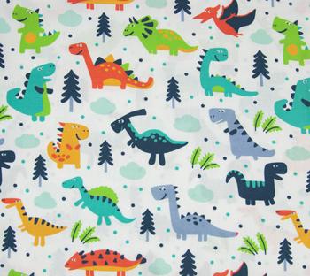 Tela dinosaurios divertidos Mis Coquetas