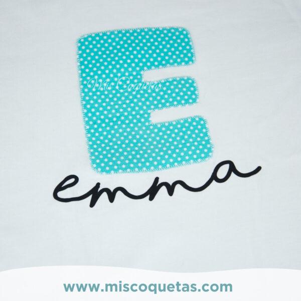 Camiseta personalizada con nombre, camiseta con inicial, camiseta divertida