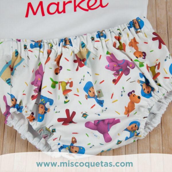 Culotte personalizado de Pocoyo Compra tu culotte personalizado Patrón culotte personalizado